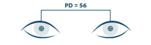 PD - pupillary distance - single